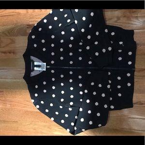 Zip front bcbgmaxazria jacquard sweater